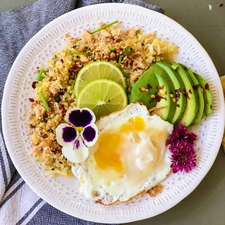 5-Minutes Salmon Fried Rice
