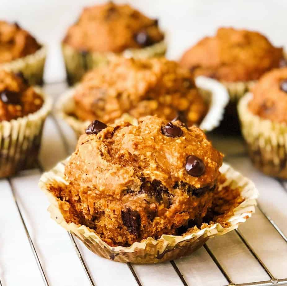 Protein packed banana bread muffins